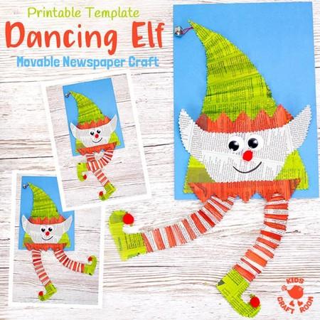 Manualidades Navidad Elfo Periodico