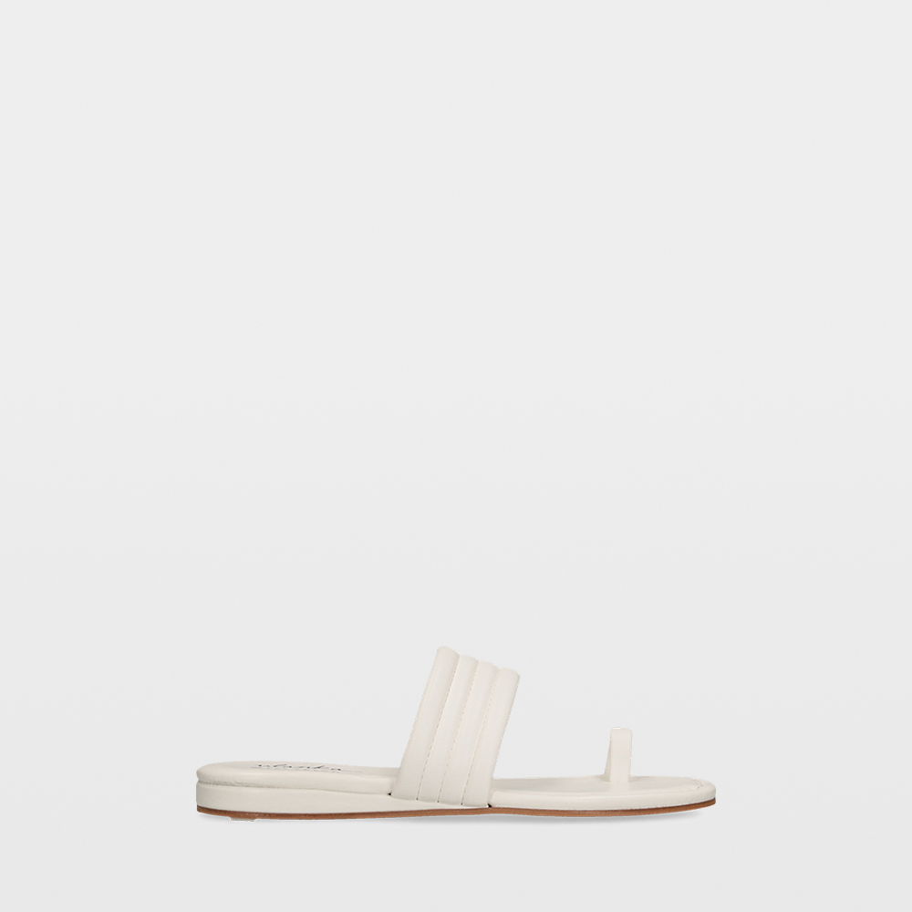 Sandalias planas con tiras acolchadas