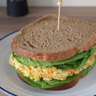 Sándwich de ensalada de garbanzos: receta vegetariana con y sin Magimix Cook Expert