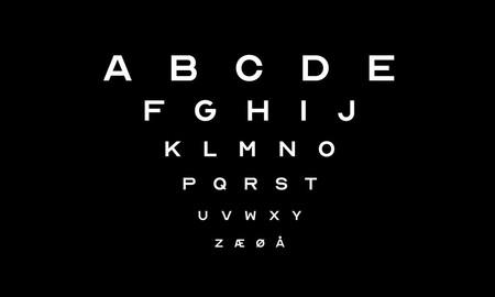 Descarga esta tipografía gratuita inspirada en la que utilizan los oculistas para revisar la vista