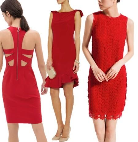 vestidos cortos en rojo 2014