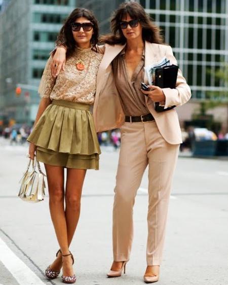 Mujeres con estilo en color maquillaje