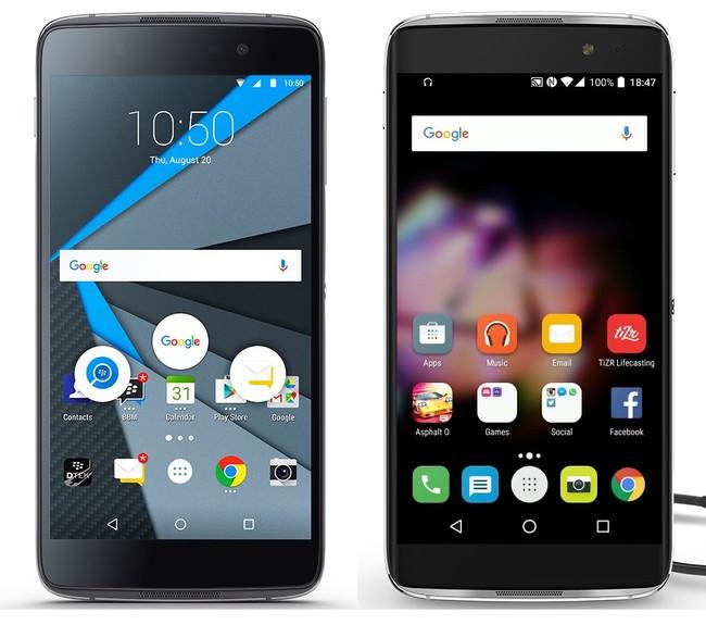 Alcatel And Blackberry