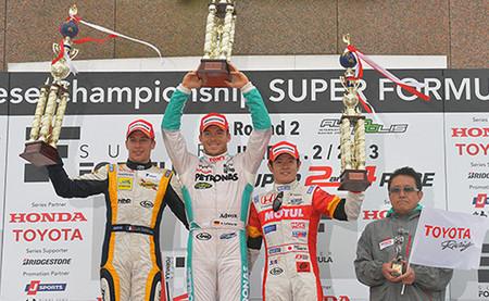 Podio 2013 Autopolis Super Fórmula