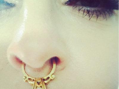 Septum, el piercing de moda ¿nos gusta o no?