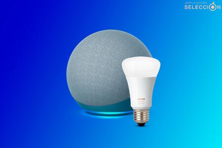 """El nuevo y rediseñado altavoz """"inteligente"""" Echo de Amazon con la bombilla Philips Hue está 30 euros más barato"""