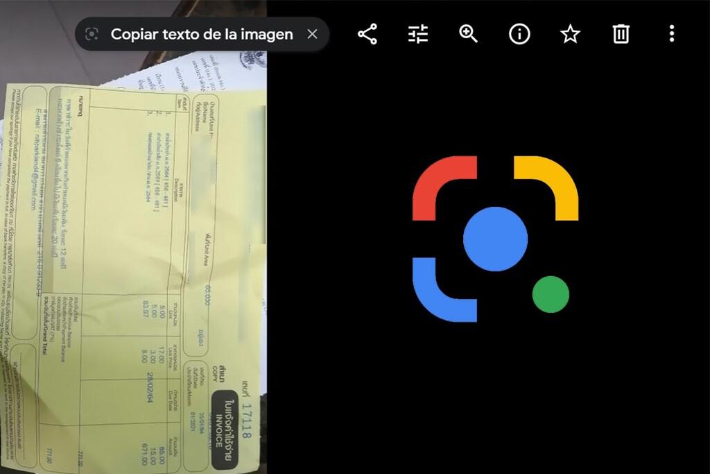 Google Lens llega a la versión web de Google Fotos como un modo para seleccionar texto