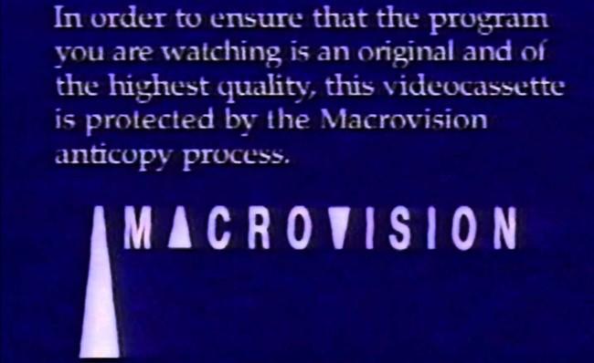 Macrovision Anticopy Process