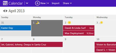 El nuevo estilo de Microsoft llega por fin al calendario de Outlook.com
