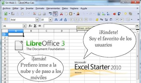 LibreOffice vs. MS Office Starter 2010