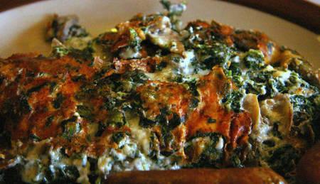 Recetas vegetarianas: tortilla de espinacas