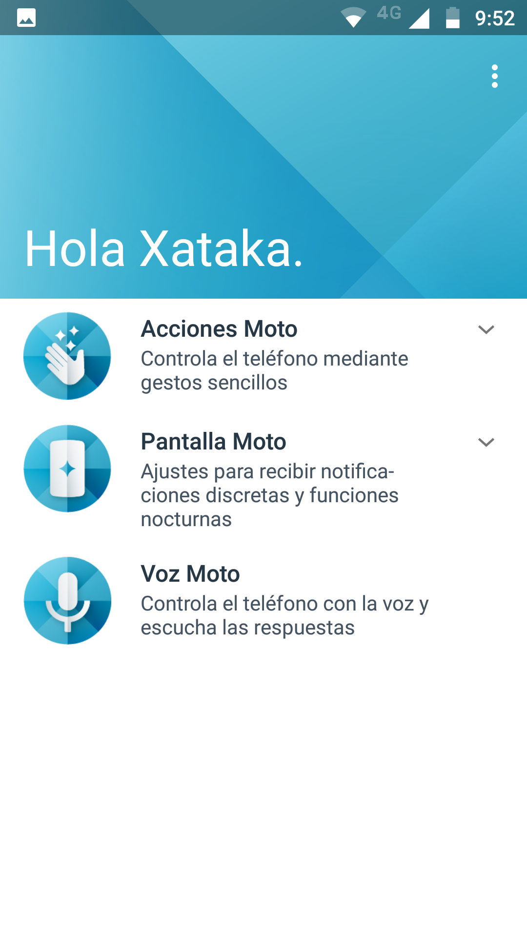 Software del Moto Z2 Play