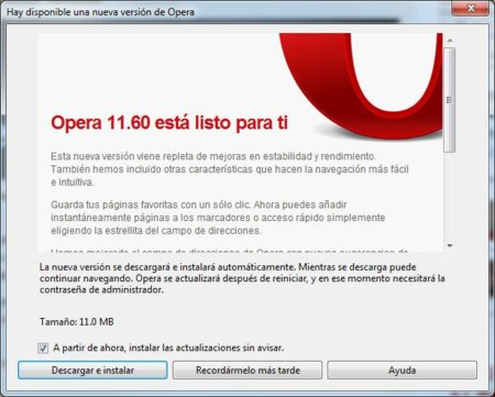 Opera 11.60 Tunny final ya está disponible para descargar