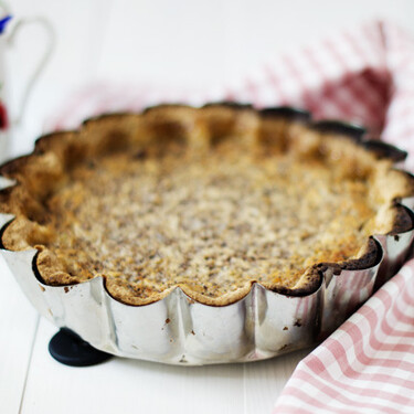 Yorkshire curd tart o tarta de requesón, receta tradicional británica para acompañar el té