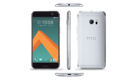 Render del HTC 10 en color negro