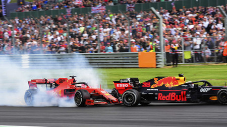 Vettel Verstappen Silverstone F1 2019