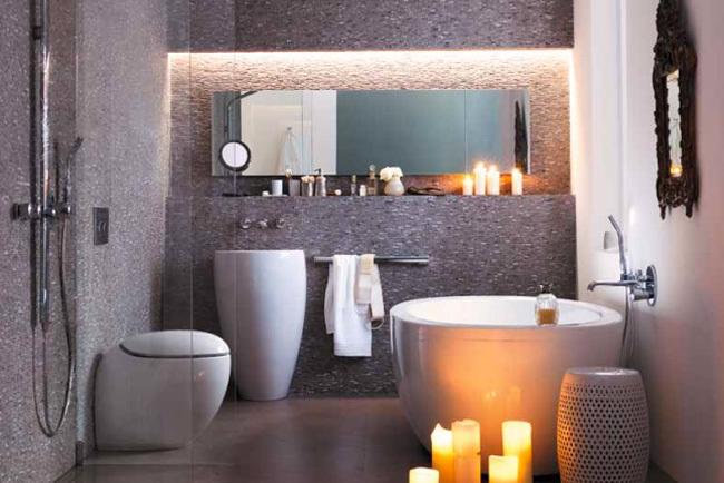 Mover Inodoro Baño Nuevo:Si mi baño se convierte en este con una cisterna empotrada, póngame