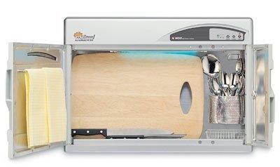 Esteriliza utensilios para usar en la cocina