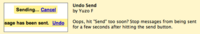 Gmail te permite deshacer un envío