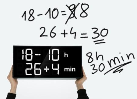 Con este reloj, si quieres saber la hora tendrás antes que resolver la ecuación