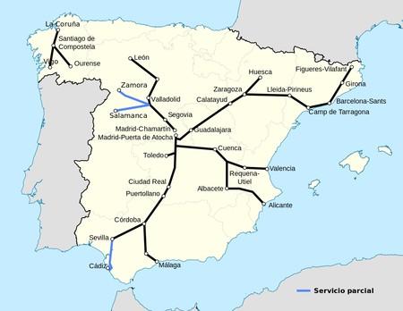 Lineas Ave Espana 2016
