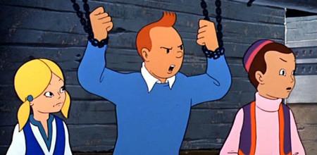 Tintin en el lago de los tiburones 4
