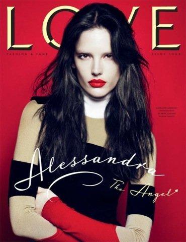 Alessandra Ambrosio, portada revista Love