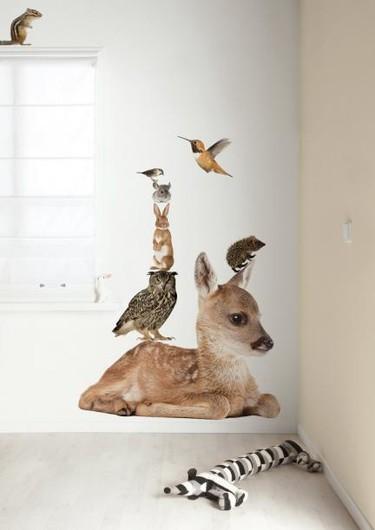 Vinilos súper realistas de animales para la habitación infantil