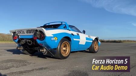 Forza Horizon 5 promete el mejor sonido de la historia con este ruidoso vídeo: de un Lancia Stratos a un camión de carreras