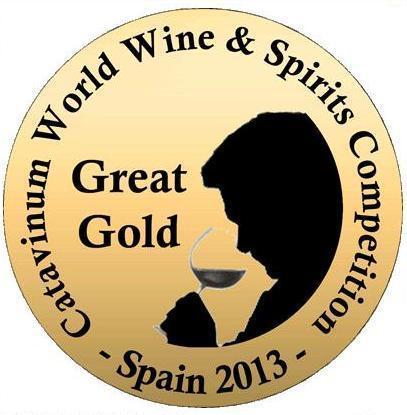 Catavinum World Wine & Spirits Competition 2013, Medallas de Gran Oro y Medallas de Oro