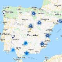 Google Maps añade 240 nuevos puntos de carga para coches eléctricos en España, distribuidos así en el mapa