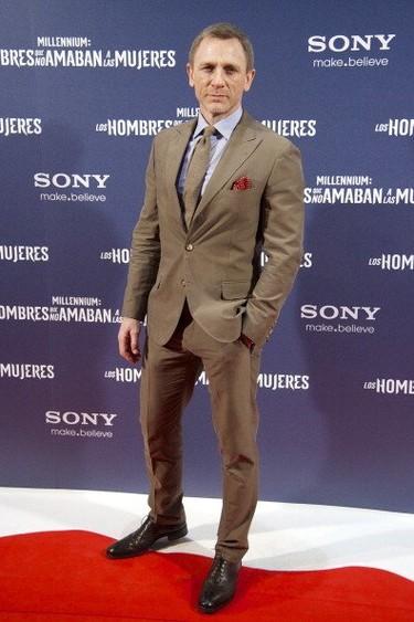 Daniel Craig de estreno en Madrid en la promoción de Millenium