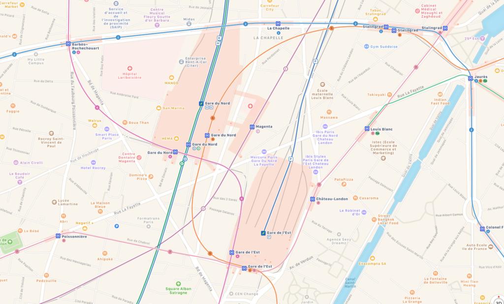 Mapas Apple™ Paris Transporte Publico 1