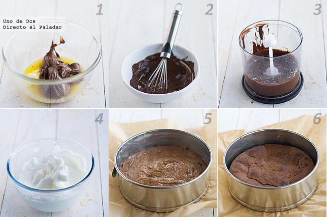 Tarta de Nutella de Nigella Lawson paso a paso. Receta para San Valentín