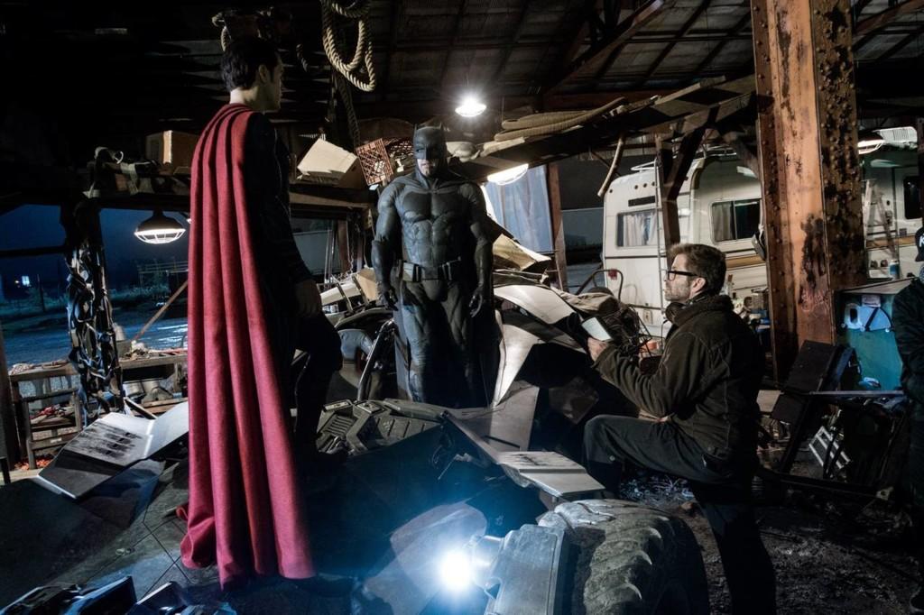 Zack Snyder en el rodaje de Batman V Superman