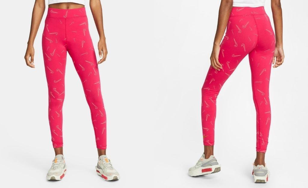 Nike Sportswear - mallas estampadas fucsia
