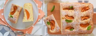 Pastel de albaricoque (o melocotón) y yogur: receta polaca para un postre o desayuno de verano