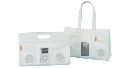 iPod en la bolsa de mano