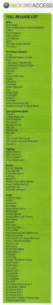 Listado Xbox 360