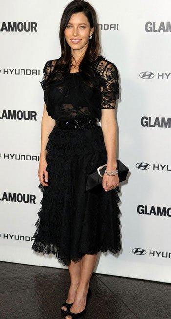 Jessica Biel en los Glamour Reel
