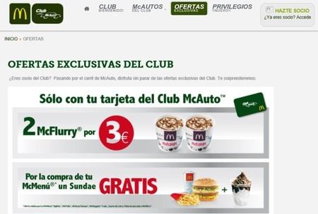 ¿Conoces el Club McAuto de McDonald's? Tiene grandes descuentos en algunas provincias españolas