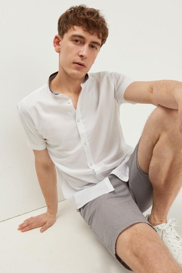 Camisa manga corta dobby mao