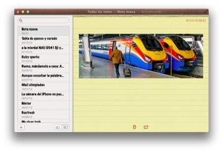 Comparte archivos de forma rápida usando la aplicación de Notas