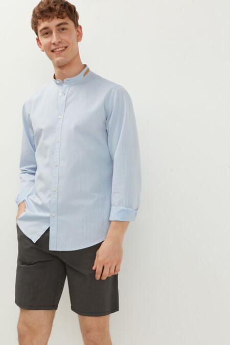 Camisa Dobby Rayas Mao