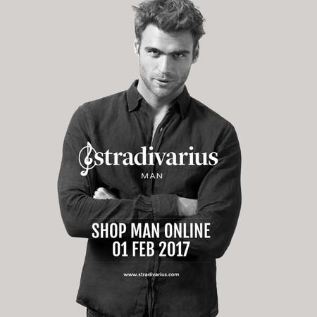 Stradivarius nos presentará su primera línea masculina este febrero
