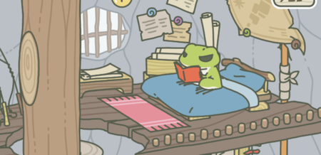 La rana leyendo