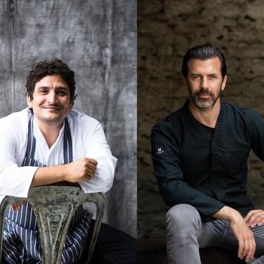 Mauro Colagreco y Andreas Caminada entre el jurado de la final mundial del concurso S.Pellegrino Young Chef 2020