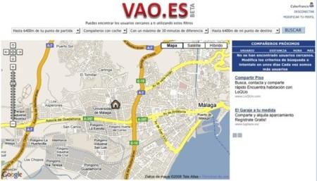 Vao.es, comparte coche con usuarios que realicen trayectos similares