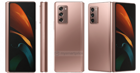 Samsung Galaxy Z Fold 2 5g Mystic Bronze Filtracion Renders Alta Calidad