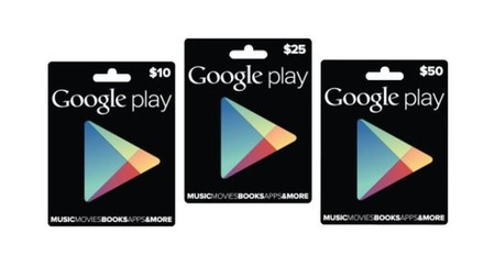 Tarjetas Regalo Google Play